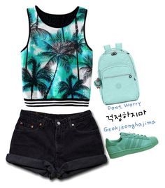 """#94"" by songjieun ❤ liked on Polyvore featuring Levi's, adidas and Kipling"