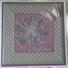 Parchment Cards, Agapanthus, Craft Patterns, Baby Cards, Flower Cards, Hobbies And Crafts, Cardmaking, Projects To Try, Stamp