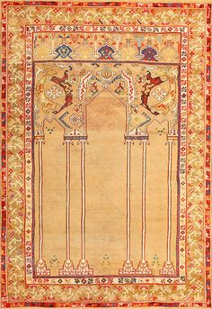View this century antique double niche Ottoman prayer rug from Nazmiyal fine antique rugs and decorative carpet collection in New York. Ottoman, Prayer Rug, European Paintings, Grey Carpet, Persian Carpet, Rare Antique, Ancient Art, Floor Rugs, Carpet Runner