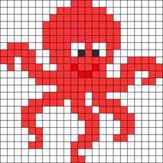 Octopus Perler Bead Pattern / Bead Sprite