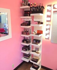 room в 2019 г. makeup shelves, makeup rooms и glam room. Makeup Shelves, Makeup Display, Makeup Drawer, Makeup Vanities, Rangement Makeup, Make Up Storage, Storage Ideas, Storage Systems, Storage Hacks