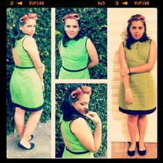 #pinup #pinupgirl #dress #backoutdress #hairstyle #vintage #cutedress