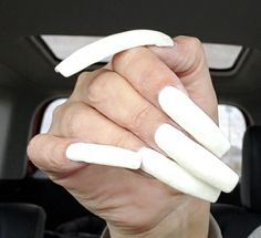 White Manicure, Double Team, Manicures, Long Nails, Slim, Nail Salons, Polish, Nail Manicure, Manicure