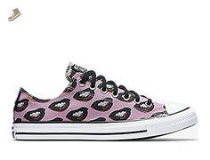 huge discount b5f2b ae172 Converse Chuck Taylor All Star Lo Top White Black Violet Mens 5   Womens