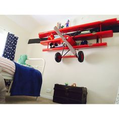 Amazing book Shelves Plane wall shelving Replica airplane Red baron model shop, cool aircraft store for A big red baron replica kits the fokker dr1