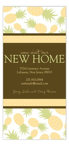 Sign of Welcome Card Engagement Announcement  #NewHome #Moving