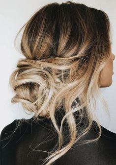 low bun + curls