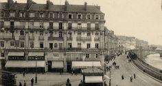 La place du Commerce et le quai Brancas au début du 20e siècle