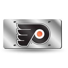 NHL Philadelphia Flyers Laser License Plate Tag - Silver
