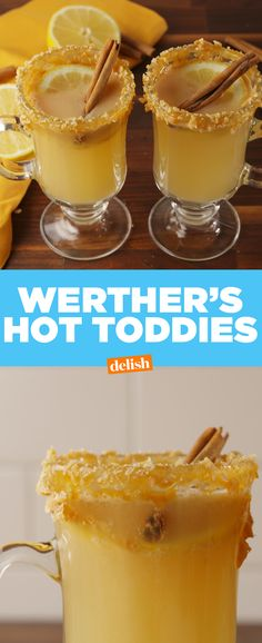 If you like Werther's candies, you'll LOVE these hot toddies. Get the recipe at Delish.com. #delish #werthers #werthersoriginal #wertherscandy #candy #caramel #hottoddy #booze #alcohol #winter #winterdrinks #drink #easyrecipe #cocktail