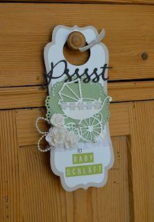idea for baby door hanger