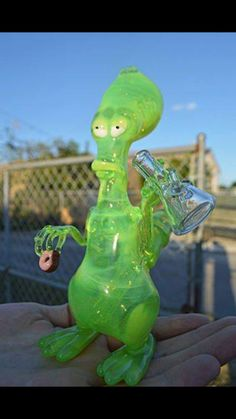 American Dad - Roger Glass Bong also pipes Glass Pipes And Bongs, Glass Bongs, Ganja, Stoner, American Dad Roger, Weed Bong, Weed Pipes, Cool Pipes, Weed