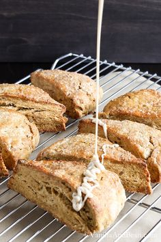 Pumpkin Scones with Candied Ginger and Maple Glaze Recipe| Vanilla And Bean
