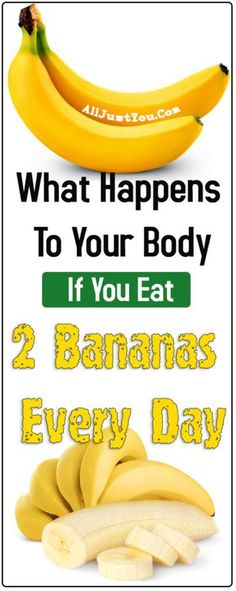 What Will Happen to Your Body if You Eat 2 Bananas a Day - Health Beauty Sky Natural Antacid, Perfect Portions, Lose Weight, Weight Loss, Health Tips For Women, Men Health, What Happened To You, Healthy Tips, Gastronomia