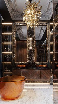 Bathroom Design Luxury, Luxury Interior Design, Interior Design Inspiration, Interior Architecture, Interior Decorating, Luxury Home Designs, Design Ideas, Luxury Bathrooms, Beautiful Interior Design