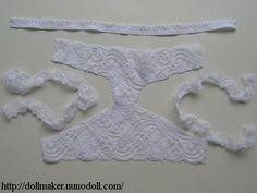 Pants of lace
