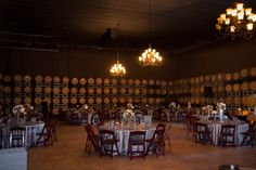 Table Settings in our Barrel Room Reception. Wedding Photos - Temecula Wineries & Leoness Cellars-Temecula-Restaurant & Weddings
