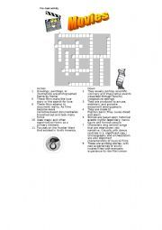 English worksheet film genres for elementary students for Farcical film genre crossword
