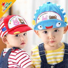 MSOO Toddler Baby Kids Girls Boys Cartoon Character Letter Breathable Hat Bucket Cap