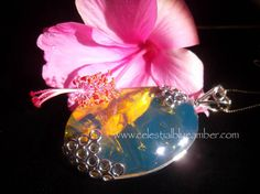 Dominican Blue Amber pendant...stunning