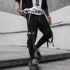 Street Fashion and Clothing Store selling the highest quality streetwear clothes with the best prices Pantalon Streetwear, Style Streetwear, Streetwear Brands, Black Harem Pants, Black Joggers, Mens Jogger Pants, Sport Pants, Harem Sweatpants, Hip Hop