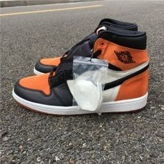 d825e04c152777 Air Jordan 1 Satin Shattered Backboard AV3725-010 Orange black white Mens  Basketball Shoes