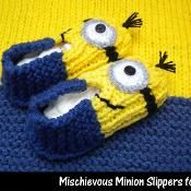 Mischievous Minion Slippers for Kids - via @Craftsy