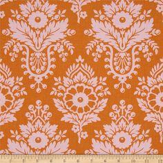 Designed by Heather Bailey for Free Spirit, this cotton print is perfect for quilting, apparel and home decor accents.  Colors include orange and pink.