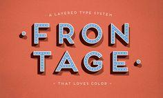 Frontage Typeface +freefont on Behance
