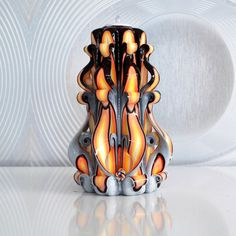 Black Orange Carved Candles with LED light hole on the top and the bottom by Mumartmum on Etsy Beautiful Candles, Best Candles, Diy Candles Video, Carved Candles, Candle Art, Amazing Decor, Etsy Business, Handmade Candles, Candle Making