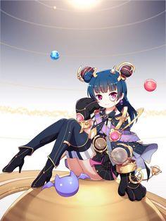 Anime Blue Hair, Sea Wallpaper, Live Picture, Anime Girl Cute, Anime Life, Anime Films, Manga Games, Magical Girl, Aesthetic Art