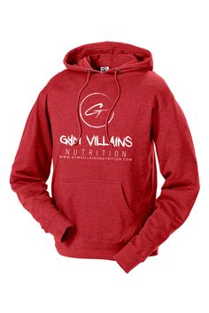 Gym Villains Nutrition Hoodie - Red