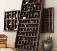 Once used to house and organize metal fonts for vintage printing presses, these Wooden Printers Trays are transformed into creative wall art for your home. Place favorite small collectibles in the compartments to make one your own. How To Antique Wood, Vintage Wood, Vintage Heart, Pottery Barn, Metal Font, Printers Drawer, Tray Styling, Creative Walls, Acrylic Wall Art