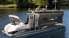 Tri-tube pontoon boat / with cabin HRV Southland Boat