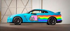 Nissan Perfectly Trolls Ferrari With This Nyan Cat GT-R For Deadmau5