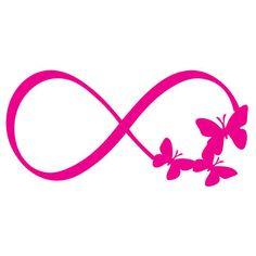 Butterfly Infinity Symbol by MontgomeryHomeDesign on Etsy
