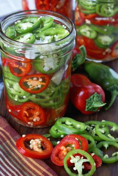 Refrigerator Pickled Jalapenos- Butter Your Biscuit - Refrigerator Pickled Jalapeños - Pickled Jalapeno Peppers, Pickling Jalapenos, Stuffed Jalapeno Peppers, Pickeled Jalapenos, Stuffed Banana Peppers, Pickled Jalapeno Recipe, Jalapeno Recipes, Hot Pepper Recipes, Chilli Recipes