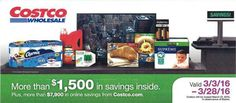 March 2016 Costco Coupon Book Cover