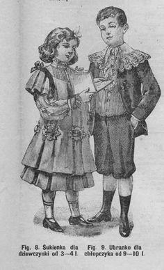 Stroje dla dzieci, 1904 Children's clothes, 1904