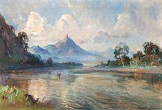 Ernest Dezentjé - Pemandangan Sungai