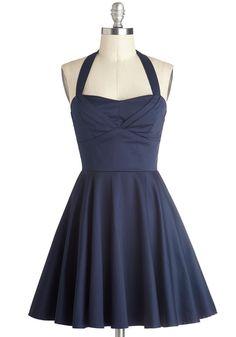 Traveling Cupcake Truck Dress in Navy | Mod Retro Vintage Dresses | ModCloth.com