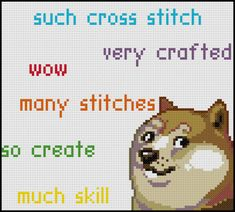 PDF Cross Stitch Pattern Doge Stitch by StitchadeeDesigns on Etsy, $3.99