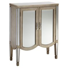 Have to have it. Stein World 2 Door Mirrored Chest - Silvery - $499.99 @hayneedle.com