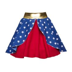 NEW-LAYER-Superhero-Skirts-Fancy-Dress-Costume-WONDER-WOMAN-Batwoman-ADULTS-UK