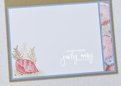Stampin' Up! Sand & Sea Suite | Judy May, Just Judy Designs, Melbourne Little Crumb, The Donkey, Friends Are Like, Glue Dots, My Stamp, Embossing Folder, White Ink, Paper Design, Card Stock