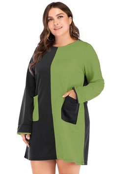 Curve Girl Plus Size Clothing - Women's Plus Size Desi Clothing      Dual Color Casual Tunic Dress      $28.99      Retail Price:$56.99 Formal Skirt And Top, Skirt And Top Set, Plus Size Dresses, Plus Size Outfits, Size Zero, Girl With Curves, Bodycon Dress Parties, Short Mini Dress, Curve Girl