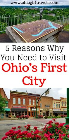 If you're looking for a beautiful, historic US city, you need to check out Ohio's first city Marietta Ohio. This charming town is full of beautiful brick roads, restored Victorian homes, and adventure. Come see why Marietta, Ohio is now our favorite town in Ohio. You won't want to miss this on your trip to Ohio so don't forget to save this to your travel board.