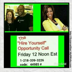 Would you #HireYourself and #FireYourBoss if the money was right?  Listen to this call today at 12 noon from top #leaders of #ItWorksGlobal who are rocking their businesses.   Call me after to discuss if you are a good fit to be an #ItWorks franchise owner too!  Suzanne 732-207-6819, Starr_sz@yahoo.com   Http://SuzanneStarr.MyItWorks.com #ItWorksWay #itworksincome #debtfree #wraps #BetterTogether #Teamwork #InvestInYourself #OurTime #StartsWithOne