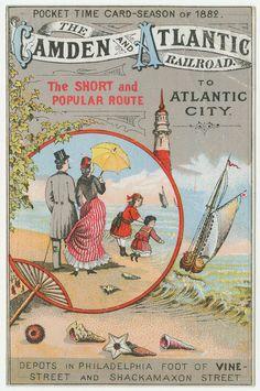 The Camden & Atlantic Railroad advertising trade card.