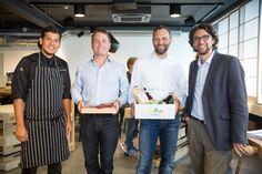 Dave Wälti, marmite Youngster 2015 I Daniel Kohler und Franco Jenal, Buyfresh Gründer I Andrin Willi, marmite Chefredaktor